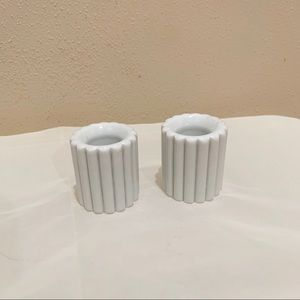 Vintage fluted candle stick holders
